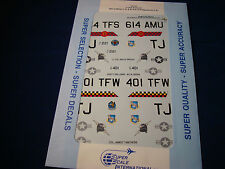 SUPER SCALE DECALS F-16C FALCONS 401ST WING CO 614TH TFS SQ 32-96 1:32