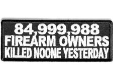 85 MILLION GUN OWNERS EMBROIDERED BIKER PATCH