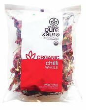 Pure & Sure Organic Whole Chili ,Spice 200gm,Certified By USDA