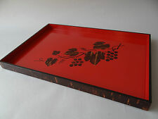 """Non-Used Japanese Cherry Bark Lacquered Wooden serving Tray """"OBON"""", Tea Ceremony"""