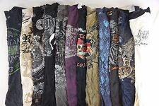 Mixed Brand w/ Affliction Lot of 12 Men's Graphic Tee Shirts Large L [BC9085]