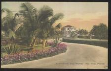 Postcard KEY WEST Florida/FL  Casa Marina Driveway Entrance view 1920's