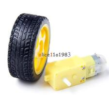 Arduino smart Car Robot Plastic Tire Wheel with DC 3-6v Gear Motor