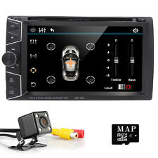6.2'' Double DIN Car DVD Player Stereo Headunit GPS Radio Bluetooth Free Camera
