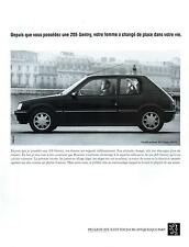 ▬► PUBLICITE ADVERTISING AD Car Voiture PEUGEOT 205 1992