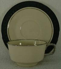 """FRANCISCAN china MIDNIGHT MIST pattern CUP & SAUCER Set 2"""" Cup"""