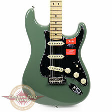 Brand New Fender American Professional Stratocaster Maple in Antique Olive Demo