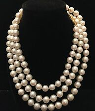 Mikimoto Vintage Akoya 6.5-7 MM 36 IN Necklace Yellow Gold #17026