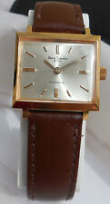 100% authentic NOS Henri Sandoz & Fils Watch*17J. hand winding*Gold plated*Rare*