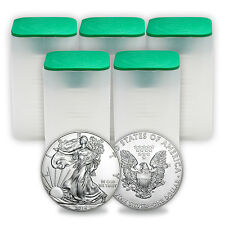 SPECIAL PRICE! 2016 1 oz Silver American Eagle Coins BU (Lot of 100, 5 Tubes)