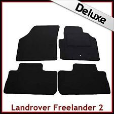 Land Rover Freelander Mk2 2006-2014 Tailored LUX 1300g Carpet Floor Mats BLACK