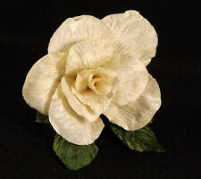 Velvet Rose Cream Millinery Bridal Flower Crowns Corsage Wedding Craft 3 inches