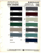 1948 CADILLAC FLEETWOOD COUPE DE VILLE SIXTY 48 PAINT CHIP SHERWIN WILLIAMS 2