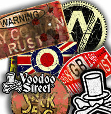 VW PATINA STICKER PACK BY VOODOO STREET™, hot rod, camper,van, ratlook, superior
