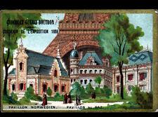 IMAGE CHOCOLAT GUERIN BOUTRON / PARIS EXPOSITION 1889 / NORVEGE ,PAVILLON du GAZ