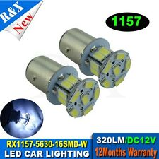 1 x S25 1157 BAY15D White 16 5630 SMD LED Car Stop Tail Brake Light Bulb 320LM