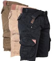 Geographical Norway Herren Cargo Shorts Kurze Hose Short Bermuda Gürtel Trouser