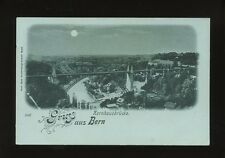 Switzerland Gruss aus BERN moonlight view c1902 Unposted u/b PPC