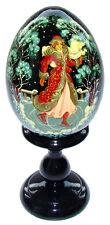 Oeuf en bois, Oeuf Collection Russe - Patineuse, cadeau original artisanat RUSSE