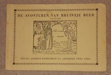 1960s/70s DE AVONTUREN VAN BRUINTJE BEER DUTCH RUPERT BEAR PAPERBACK ACHTSTE 8