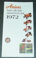 1972 ARIENS LAWN MOWER POWER EQUIPMENT SALES BROCHURE