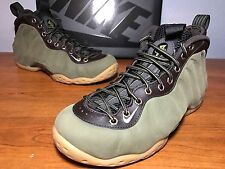 NEW Nike Foamposite One PRM QS SIZE 7 Olive Green Suede Pro Brown 575420-200