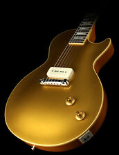 SEE VIDEO - LP STYLE GOLD TOP ELECTRIC GUITAR MAHOGANY BODY & NECK MAPLE CAP