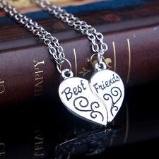 Zwei Beste Freunde Halskette Exquisite Silberlegierung Freundschaft In Scheiben
