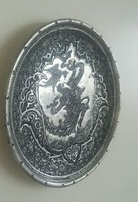 Vintage Hand Carved Engraved Signed Persian Miniature Plaque, a Work of Art