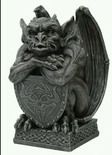 Gargoyle holding shield mold for plaster or concrete  latex n  fiberglasss