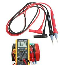 Digital Multimeter Banana Jack Test Lead Probe Wire 1 Pair 1000V 10A Pen Cable