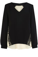 Oasis Statement Lace Insert Blouse 14