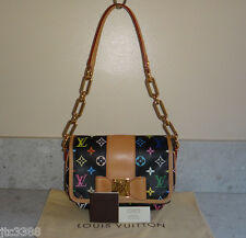 SOLD OUT Louis Vuitton Black Multicolor Patti BOW Shoulder Pochette Bag $1600TAX