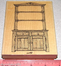 Stampin Up Country Hutch Stamp Single Kitchen Cabinet HTF Clean 4-1/2 x 3-3/4