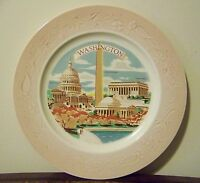 Washington D.C. Souvenir Plate Vintage Capitol Building Washington Memorial
