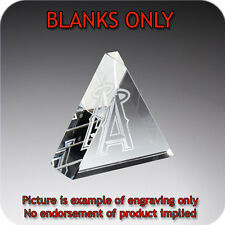 Crystal Triangle Blank Paperweight with Gift Box