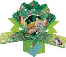 3D pop up carte chat woodland chatons blank occassion cartes de vœux cadeau souvenir