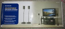 "Sanus Adjustable Speaker Stands 28""-38"" for Home Theater Sound System HTBS"