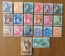 EBS Germany 1947 French Zone Saar Saarland Michel 206-225 MNH**