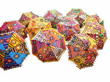 LOT OF 200 PCS WHOLESALE MULTICOLOR UMBRELLAS INDIAN PARASOL RAJASTHANI DECOR
