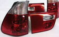 RÜCKLEUCHTEN HECKLEUCHTEN SET BMW E53 X5 99-03 ROT KLAR RED CLEAR CRYSTAL NEW