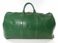 Louis Vuitton Keepall 50 Green Duffle Bag Suitcase Epi Leather Vintage Carry 222