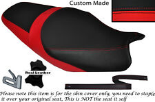 RED & BLACK CUSTOM FITS KAWASAKI ZZR 1400 ZX14R 12-14 DUAL LEATHER SEAT COVER