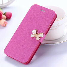 Fashion Flip 3D Butterfly Bling Strass PU Leather Card Pocket Case Lot Cover