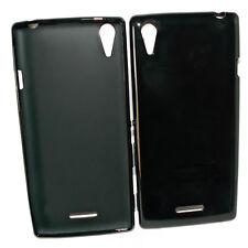 Dark Case Silikon TPU Cover Black + Displayschutzfolie für Sony Xperia Style T3