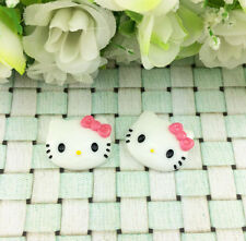 6pcs Cute Resin HELLO KITTY Rose Bow flat back Scrapbooking For DIY phone /craft
