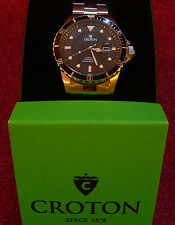 Croton Men's Automatic Diving Watch Stainless Miyota Movement Model:CA301210SSBK