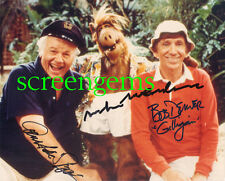Gilligan's Island signed photo ALF cast Alan Hale Bob Denver Michu mega-RARE TV!