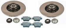 Peugeot 207 Brake Discs & Pads (Rear) With Fitted Wheel Bearings & ABS Rings