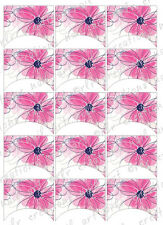 15 FRENCH NAIL TIPS *PRETTY PINK FLORAL* WATERSLIDE NAIL ART DECALS Nail Decal